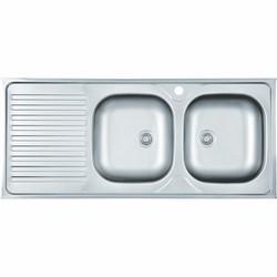 Lavello 2 vasche 50x120 cm-75,00 €