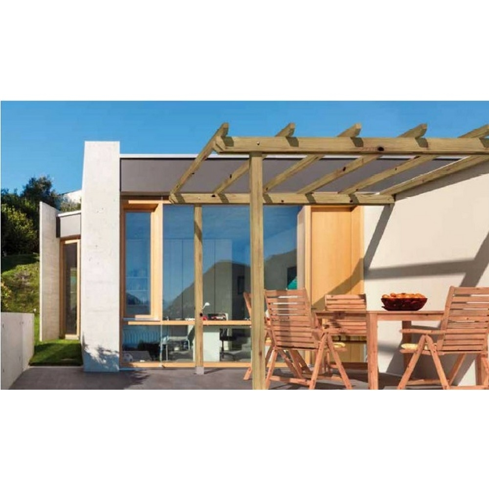 Alce pergola addossata orange cm shop for Pergola brico io