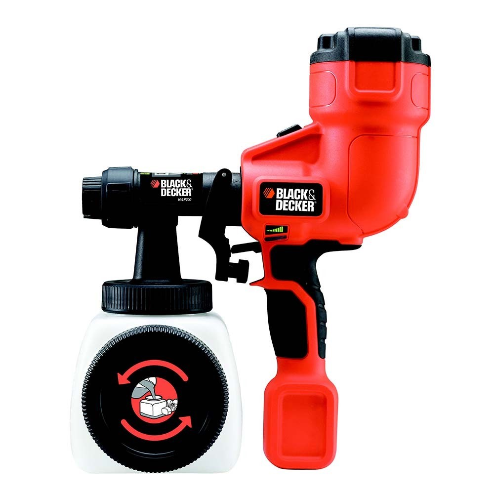 Black decker pistola a spruzzo hplv200 shop online su for Hplv paint sprayer