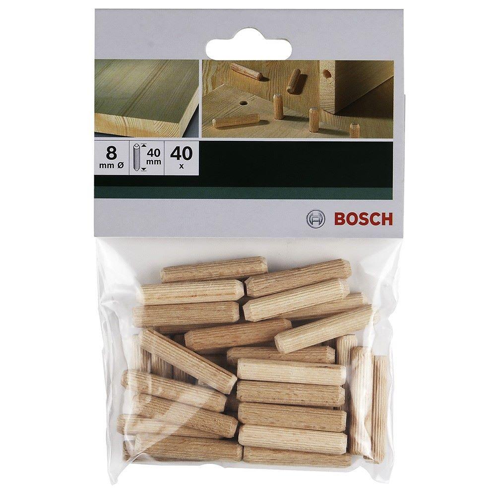 Bosch 40 Tasselli In Legno Zigrinati 8x40 - shop online su Brico io
