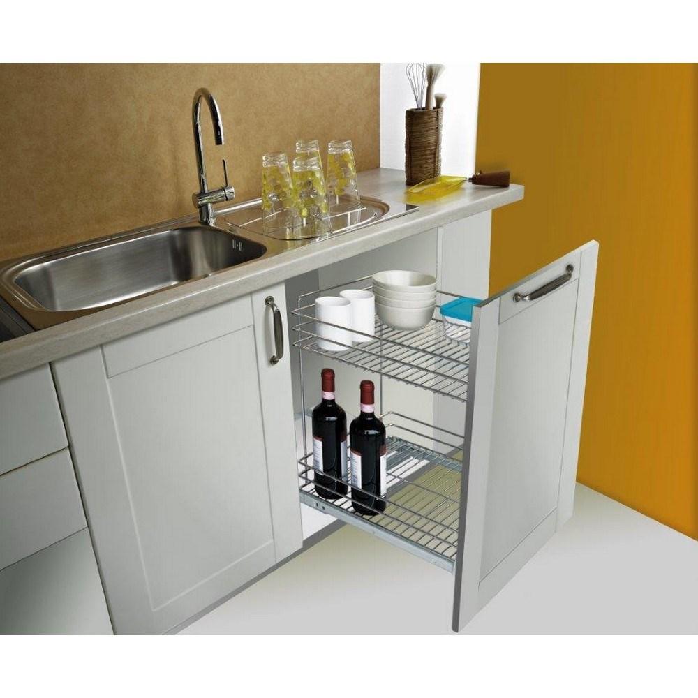 Corbetta carrello estraibile porta bottiglie shop online for Porta online shop