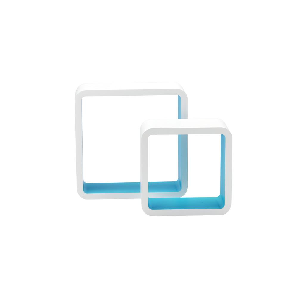 Mensola quadra bicolor shop online su brico io for Brico mensole