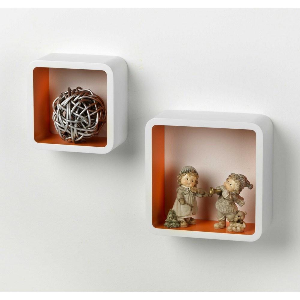 Mensola quadra bicolor shop online su brico io for Brico io mensole