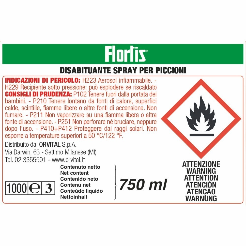 Flortis disabituante piccioni spray shop online su brico io for Pergola brico io