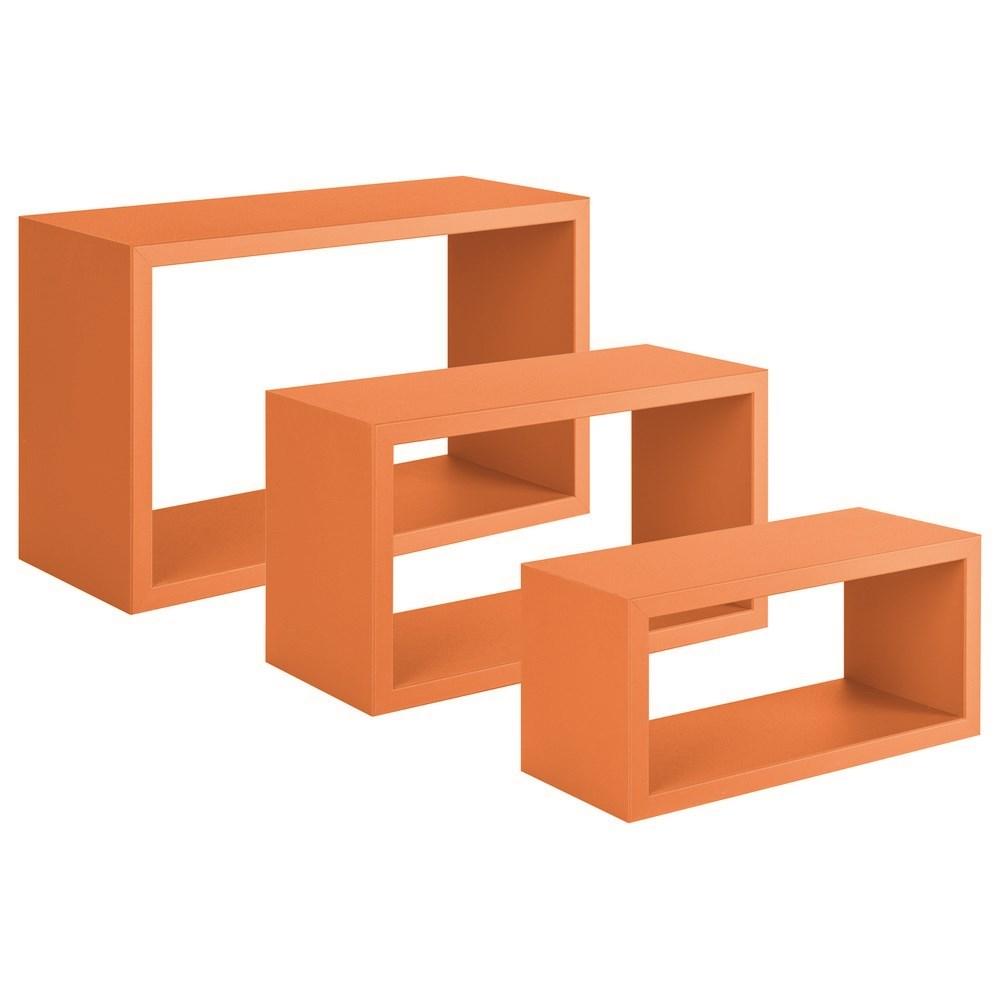 Sanitec mensole trittico cm 45x27 cm 40x22 e cm 36x17 for Mensole cubo brico