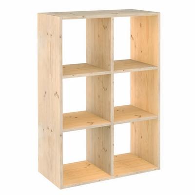 Astigarraga scaffale dinamic 6 cubi shop online su brico io for Scaffale legno componibile