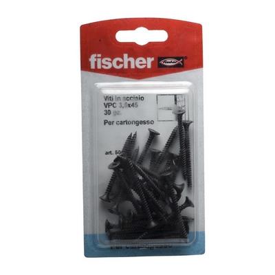 Fischer 30 viti acciaio vpc3 5x45k shop online su brico io for Fischer per cartongesso