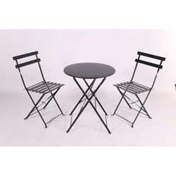 MY GARDEN - Set Bistrot tavolo+ 2 sedie Pieghevoli