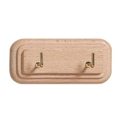 ELIPLAST - Gancio in legno rettangolare