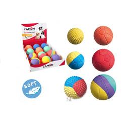 CAMON - Palla di gomma colorata in vari colori e forme