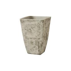 GARDEN SERVICE - Vaso Quadro Alto Cemento Country White 34x48 cm