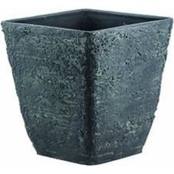 GARDEN SERVICE - Vaso Quadro Cemento Ash Stone 33x35 cm
