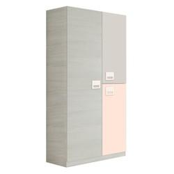 KESTILE - Armadio Zenith B04 Bianco/Rosa