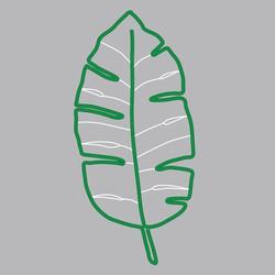 LOTTI - Neon Foglia Tropicale Verde