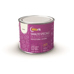 WORK - Smalto multi-supporto Marrone 500 Ml