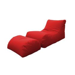 KESTILE - Pouf Chaise Longue Marea A5 Rosso