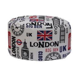 KESTILE - Pouf Tondo Londra B1 Bianco