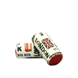 KESTILE - Set 2 Cuscini Londra A2 Bianco/Rosso