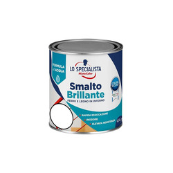 LO SPECIALISTA - MCS Smalto all' Acqua Bianco Brillante 500 Ml