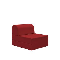 KESTILE - Pouf Chaise Longue Petra A4 Rosso
