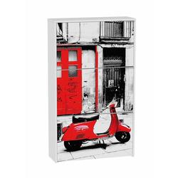 KESTILE - Scarpiera Fancy F1 Bianco/Fantasia