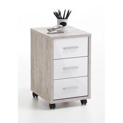 KESTILE - Cassettiera Ufficio Dexter A2 Rovere/Bianco