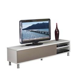 KESTILE - Mobile Tv Dakota F2 Bianco/Tortora