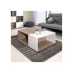 KESTILE - Tavolino Dakota A3 Bianco/Rovere