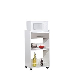 KESTILE - Carrello Cucina Ramsay D4 Bianco/Tortora