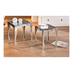 KESTILE - Set 2 Tavolini Industry A36 Argento