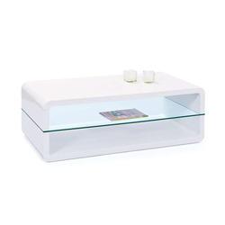 KESTILE - Tavolino Galaxy B12 Bianco/Trasparente