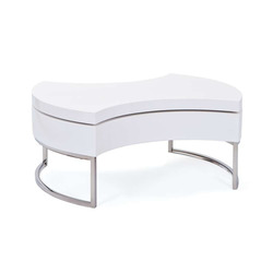 KESTILE - Tavolino Round A5 Bianco/Cromo