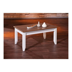 KESTILE - Tavolino Lione A4 Bianco/Marrone