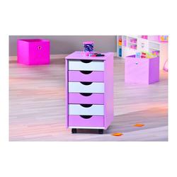 KESTILE - Cassettiera Color A2 Bianco/Rosa