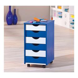 KESTILE - Cassettiera Color A5 Bianco/Blu