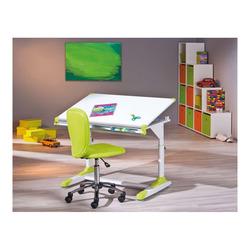 KESTILE - Scrivania Color A12 Bianco/Rosa/Verde