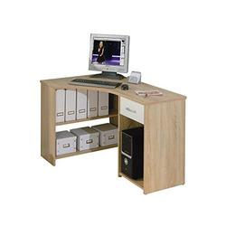 KESTILE - Scrivania Angolare Office 8 Noce/Bianco
