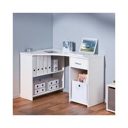 KESTILE - Scrivania Angolare Office A11 Bianco