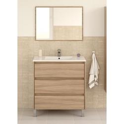 KESTILE - Set Mobile Bagno + Specchio Giunone S03 Rovere