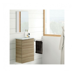 KESTILE - Set Mobile Bagno + Lavabo + Specchio Minerva L01 N
