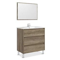 KESTILE - Set Mobile Bagno + Specchio Giunone S02 Rovere Spa