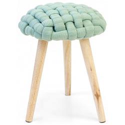 KESTILE - Set 2 Sgabelli Crochet U01 Verde/Rovere