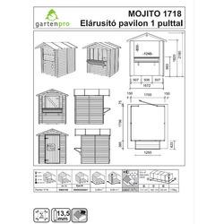 Chiosco in Legno Mojito con Pavimento 170x175x218