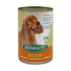 NATURAL PET - Naturalpet Bocconi con Pollo e Tacchino