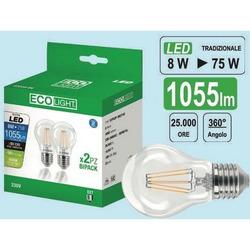 ECO LIGHT - Set 2 Lampadine 8w