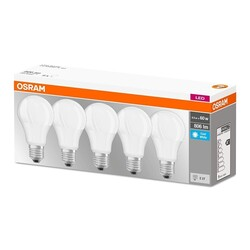 OSRAM - Set 5 Lampadine E27 60W