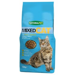 NATURAL PET - Naturalpet Mixed Cat 1,5 Kg Pesce e Verdure