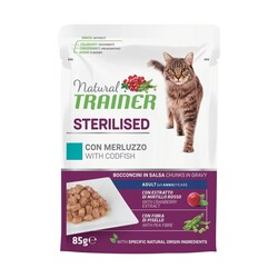 Natural Trainer - Natural Trainer Adult Sterilised Merluzzo 85 gr