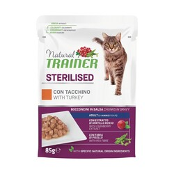 Natural Trainer - Natural Trainer Adult Sterilised Tacchino 85 gr