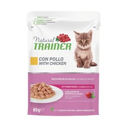 Natural Trainer - Natural Trainer Kitten&Young Pollo 85 gr